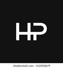 NP Logo Letter Initial Logo Designs Template with white and Black Background