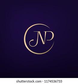 NP monogram logo for branding identity. Vector image.