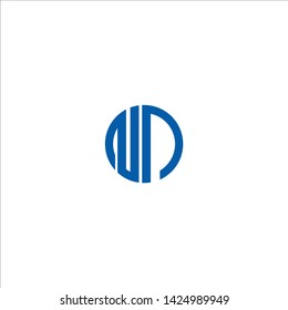 np n p alphabet letter logo icon combination design