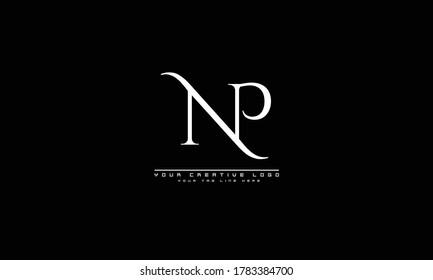 NP PN abstract vector logo monogram template
