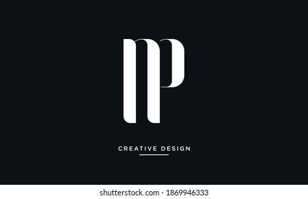 NP, PN Alphabet Letters Logo Monogram