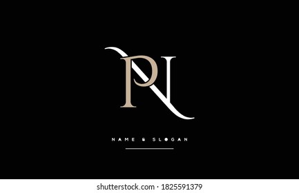 NP ,PN ,N ,P  abstract Letters Logo Monogram