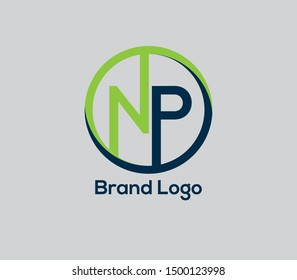 NP vector Logo. design Elements Brand Identity