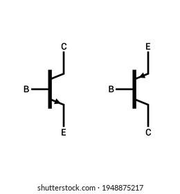 npn and pnp transistor symbol
