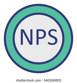 Nps Isolated Vector Icon which can easily modify or edit