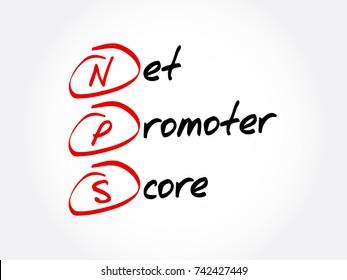 NPS - Net Promoter Score acronym, business concept background