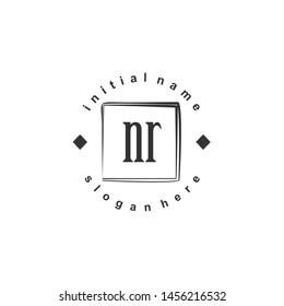 NR Initial beauty monogram logo vector