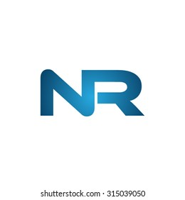 NR initial company linked letter logo