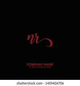 NR Initial handwriting logo vector