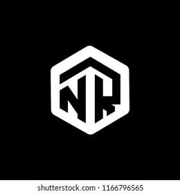 NR Initial letter hexagonal logo vector