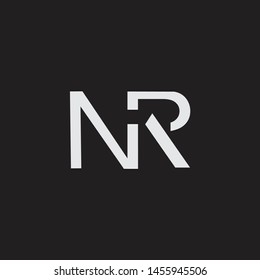 NR initial logo Capital Letters black background
