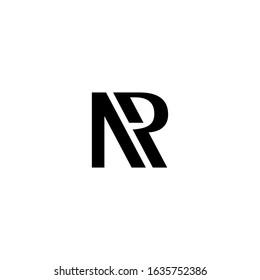 NR initial logo design vector. illustration of NR RN Letter logotype