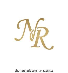 NR initial monogram logo