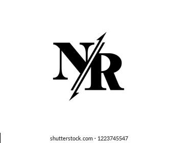 NR initials logo sliced