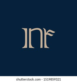 NR letter design for logo and icons
