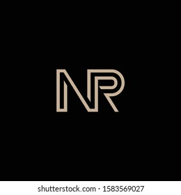 NR letter designs for logo and icons