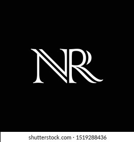 NR letter logo design and icons