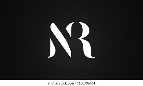 NR Letter  logo Design Template Vector