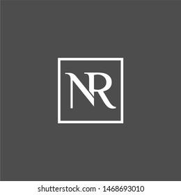 NR letter logo designs premium