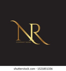 NR Logo design template - vector