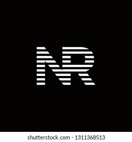 NR Logo Letter initial Designs Templete