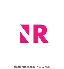 NR Logo. Vector Graphic Branding Letter Element. White Background