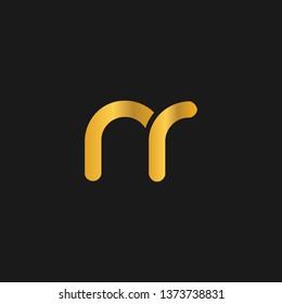NR or N R letter alphabet logo design in vector format.