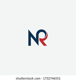NR or RN letter designs for logo and icons