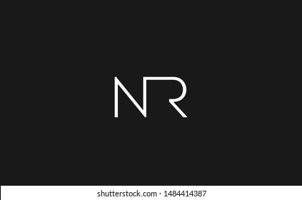 NR, RN Letter Logo Design with Creative Modern Trendy Typography