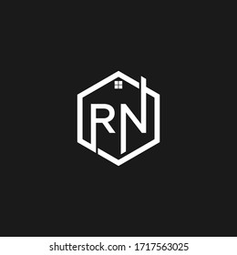 NR or RN letter logo. Unique attractive creative modern initial NR RN N R initial based letter icon logo