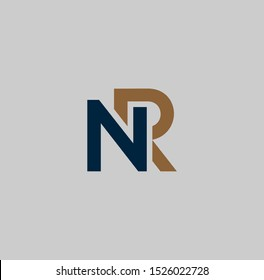 NR or RN logo design and images