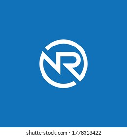 NR or RN logo and icon designs with different colors