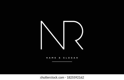 NR,RN ,N ,R  abstract Letters Logo Monogram