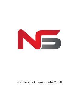NS company linked letter logo
