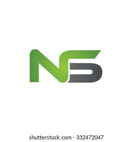 NS company linked letter logo green