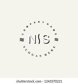 NS Initial logo template vector