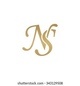 NS initial monogram logo