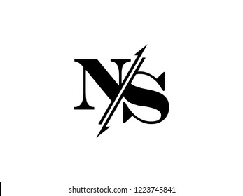 NS initials logo sliced