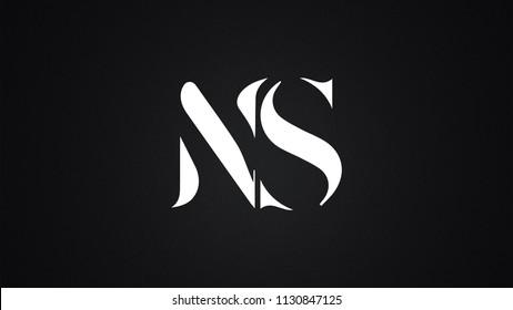 NS Letter  logo Design Template Vector