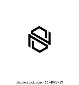 NS letter logo design vector icon template