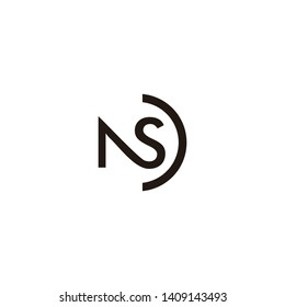 ns letter vector logo design