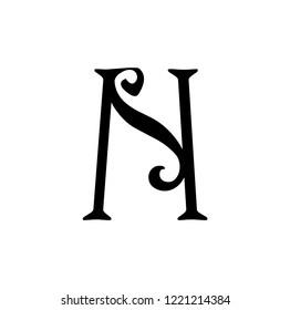 ns letter vector logo. sn letter vector logo