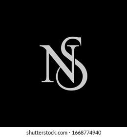 NS logo design. Vector illustration.