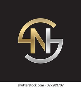 NS or SN letters, golden silver circle S shape