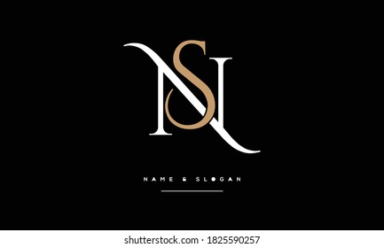 NS ,SN ,N ,S  abstract Letters Logo Monogram