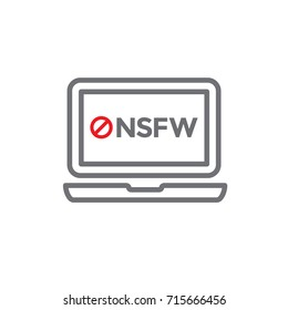 NSFW icon -- Not Safe For Work Acronym icon