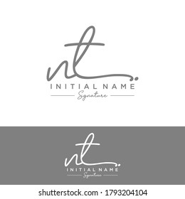 NT Initial letter handwriting and signature logo.