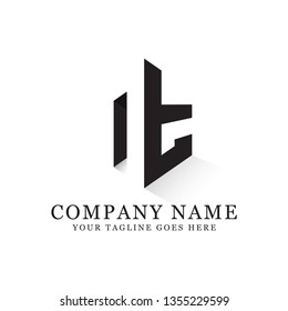 NT initial letter logo design,NT negative space vector, clean and strong brand market