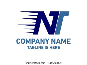 NT Letter Delevery Fast Logo