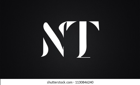 NT Letter  logo Design Template Vector